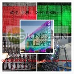 PH50 Flexible mesh curtain glass wall LED display