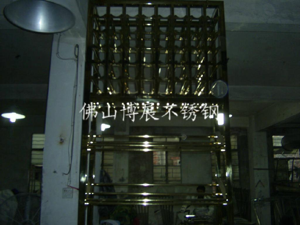 玫瑰金不锈钢酒架 1