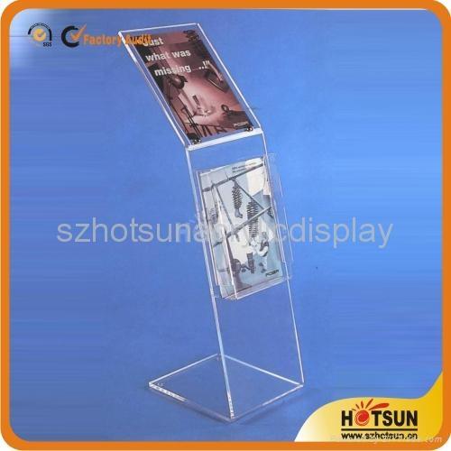 Acrylic Brochure Holdermagazine Display Stand HS40 HOTSUN Custom Acrylic Brochure Display Stands