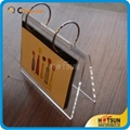 Acrylic desk calendar stand and calendar holder