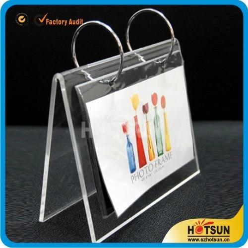 Acrylic Desk Calendar Stand And Calendar Holder Hs 006