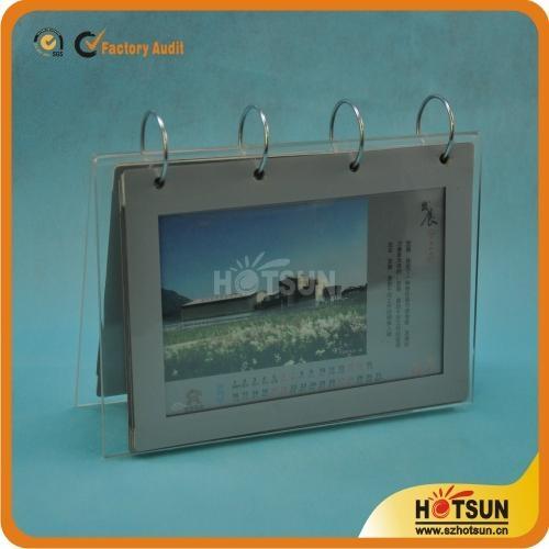 Acrylic Desk Calendar Stand And Calendar Holder Hs 006