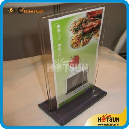 Clear Acrylic Restaurant Menu Holder And Menu Display