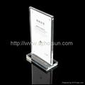 luxury hotel restaurant magnetic menu holder acrylic factory made