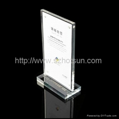 luxury hotel restaurant magnetic menu holder acrylic factory made