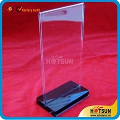 Acrylic restaurant sign holder sign stands