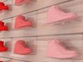 acrylic slotwall shoe racks