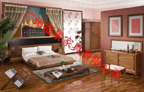 卧室实木家具床头柜 1
