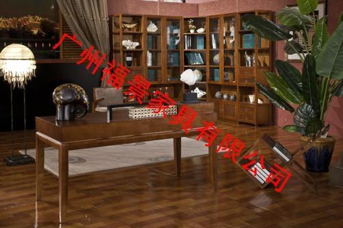 水曲柳实木书房家具 3