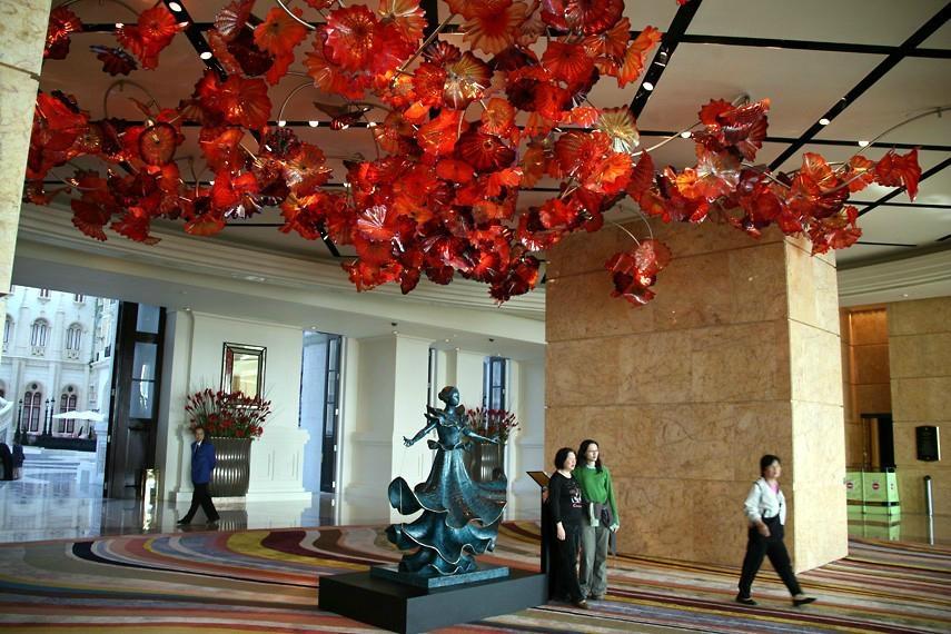 decorative murano glass flower ceiling chandelier - k0022
