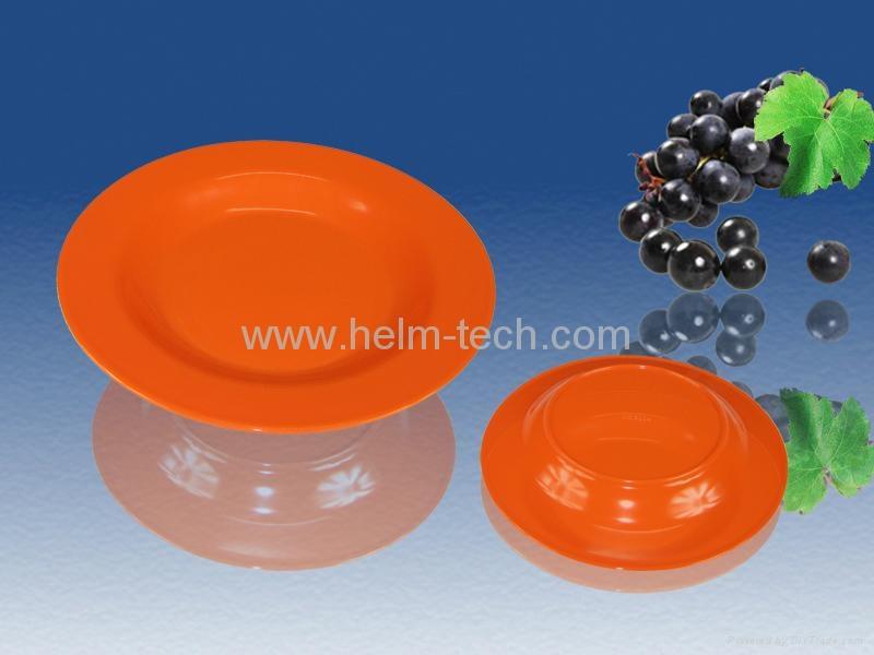 dinnerware-round orange red melamine plate 1