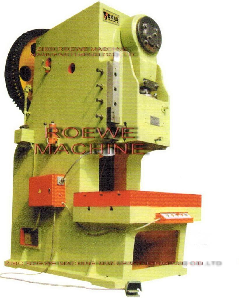 Open Back Wheel Inclinable Mechanical Punch Press J21 160t Roewe