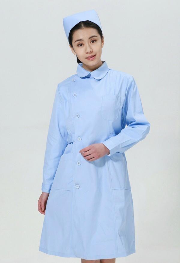 Free Shipping Hospital Clinic Nurse Uniform White Lab Coat