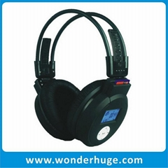 Sports wireless mp3 headphones with FM radio