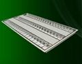 Recessed fluorescent grille lamp