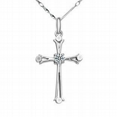 FY-D041 925 sterling si  er necklace cross style