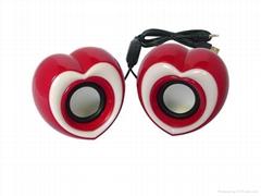 2012 New Lovely Heart shaped USB speaker