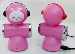 2012 Newest Doll shape 4 port USB HUB, USB2.0 HUB with shaking head design