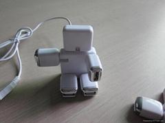 Hotsale Good price Foldable Robort shape USB HUB