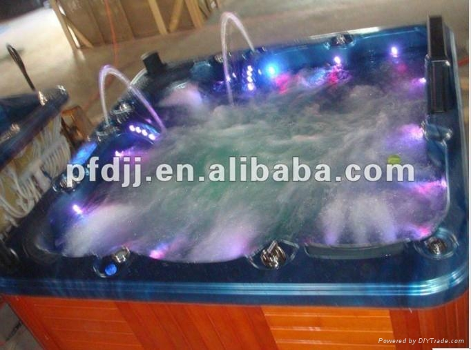 Outdoor Acrylic Hot Tub With Tv Colorful Led Light 1