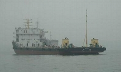 3300ton front driving barge