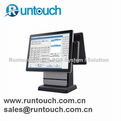 "RT-5100B Runtouch 15"" Dual Screen Fanless Touch POS System"