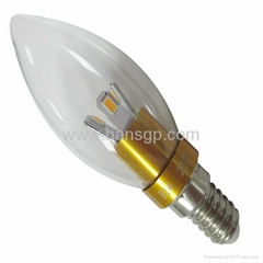 latest E14/E27 3W LED Candle Lamp