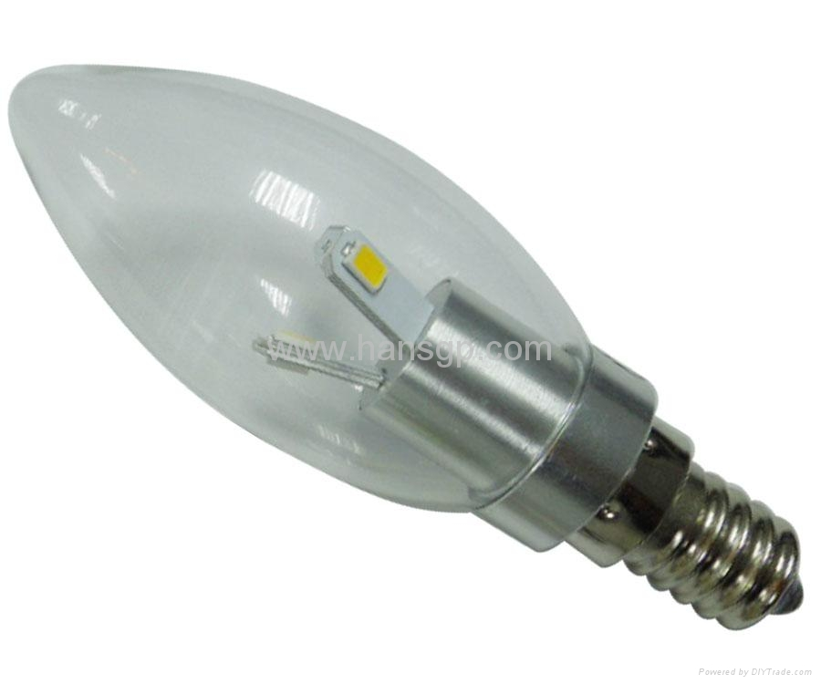 Low carbon 3w E27/E14 Aluminum led candle lamp   3