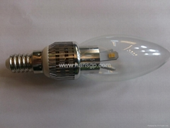 3W tailed LED candle lamp