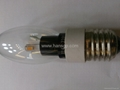 new model silvery led candle lamp 5w,e14