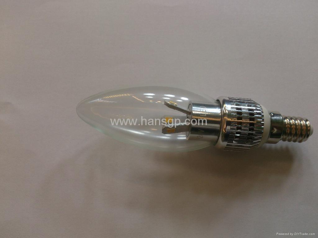 Led Candle Lamp 3watts with e14 led Base ,Led Candle Bulb  1
