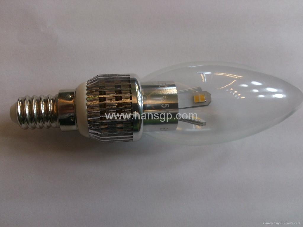 Led Candle Lamp 3watts with e14 led Base ,Led Candle Bulb  2