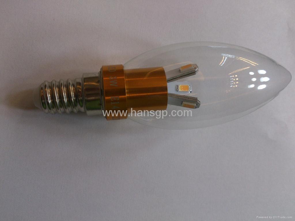 Led Candle Lamp 3watts with e14 led Base ,Led Candle Bulb  3