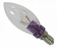 3W E14/E17/E27 CE ROHS approved LED candle lamp E17