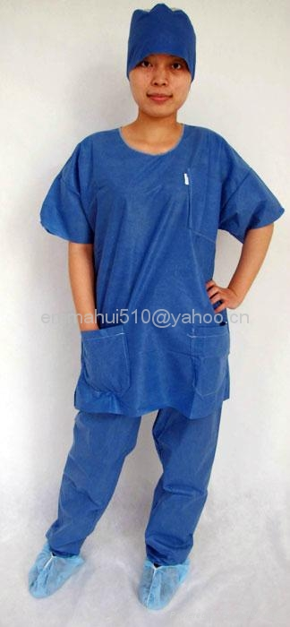 disposable SMS scrub suits  4