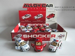 1:32pull back die car 2model assorted with police sound and light