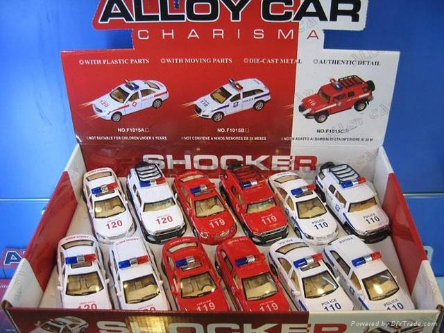 1:32pull back die car 2model assorted with police sound and light 2