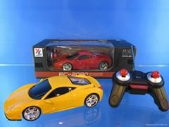 1:18 remote contral car with light,BMW,.FARRARI,AUDI 4model 3color assorted,incl