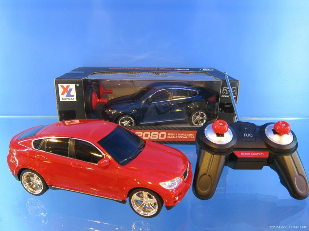 1:18 remote contral car with light,BMW,.FARRARI,AUDI 4model 3color assorted,incl 3