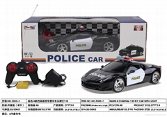 1:18remote contaol police car 4moderl assorted include battery