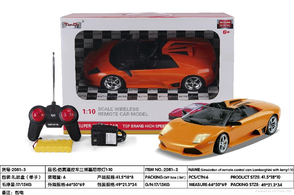 1:10remote control car 4channel 2color  3