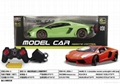 r/c car with recharger battery and light,1:8 green orange 1