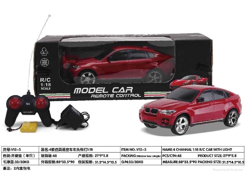 1:18 r/c car model with light and recharger battery 3