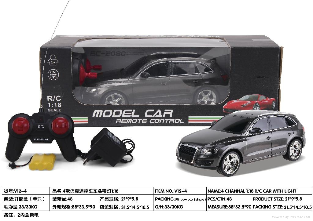 1:18 r/c car model with light and recharger battery 4