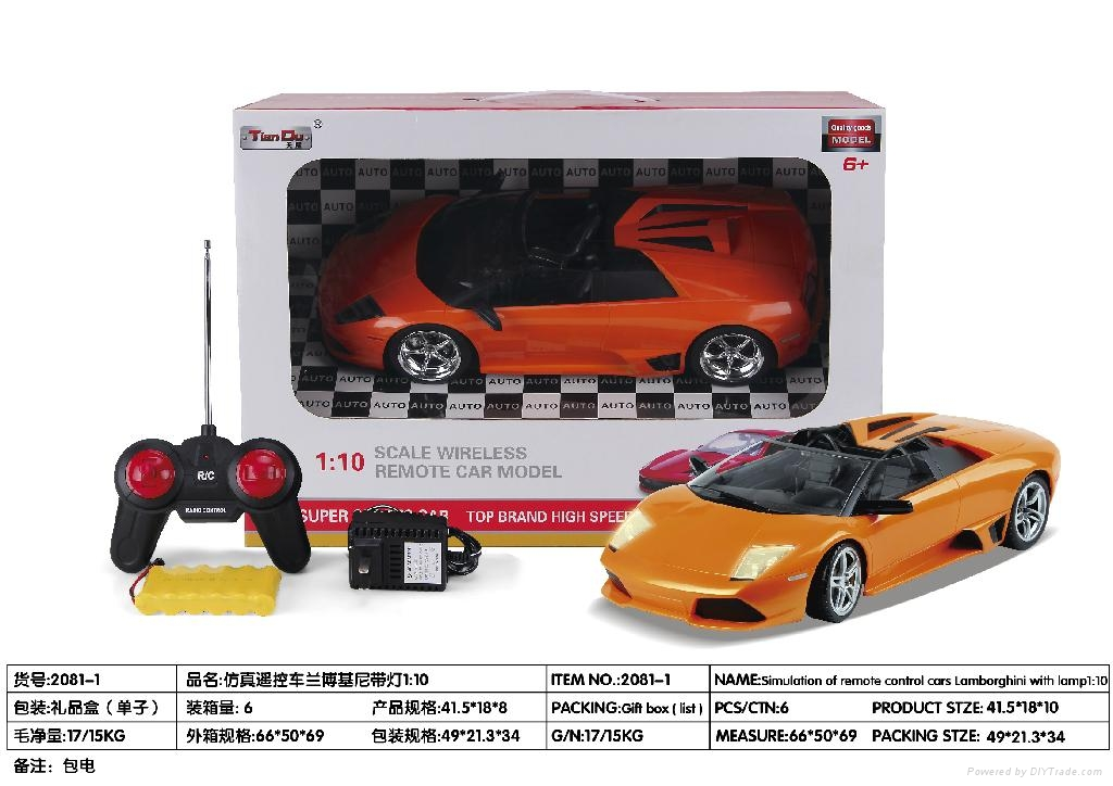 1:10remote control car 4channel 2color  4