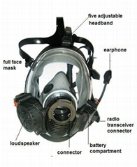 silicone conversation mask with Radio Transceiver