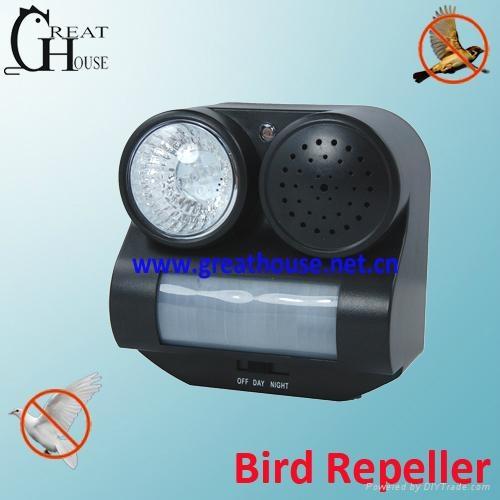 Sound and Flashing PIR Bird Scare 2