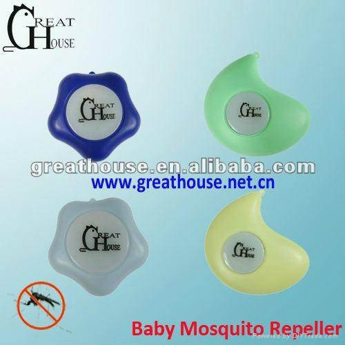 Ultrasonic Vibration Baby Mosquito Repeller 2