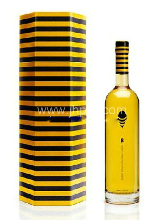 Elegant nice top grade France wine paper packaging box 4