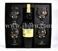 Black paper packaging boxes for  wine